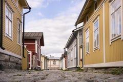Houten Huisvesting - Unesco-de plaats van de Werelderfenis royalty-vrije stock foto