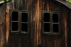 Houten hut Stock Fotografie