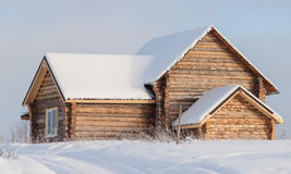 Houten hut Royalty-vrije Stock Fotografie