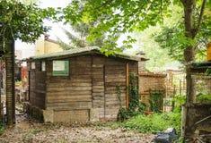 Houten hut Stock Foto