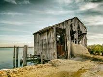 Houten hut Royalty-vrije Stock Foto