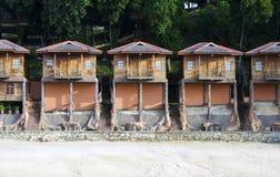 Houten hutten Stock Fotografie