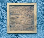 Houten kader royalty-vrije stock afbeelding