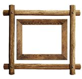 Houten kaders geplaatst geïsoleerd Royalty-vrije Stock Foto's