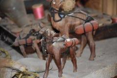 Houten kameelbeeldje Royalty-vrije Stock Afbeeldingen