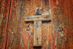 Houten katholiek kruis royalty-vrije stock afbeelding