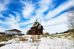 Houten kerk Royalty-vrije Stock Foto's