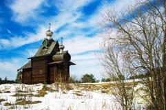 Houten kerk Stock Foto