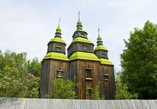 Houten kerk, de Oekraïne stock afbeelding