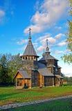 Houten kerk in het museum Suzdal. Stock Fotografie