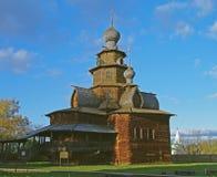 Houten kerk in het museum Suzdal. Royalty-vrije Stock Afbeelding