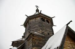 Houten kerk in het museum Suzdal. Stock Afbeelding