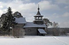Houten kerk in Karelië. Royalty-vrije Stock Afbeelding