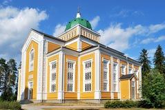 Houten kerk in Kerimaki, Finland royalty-vrije stock afbeelding