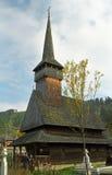 Houten kerk in Maramures-gebied, Roemenië Royalty-vrije Stock Afbeeldingen
