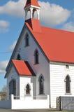 Houten kerk in Puhoi Stock Foto