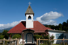 Houten Kerk - Rio Tranquilo - Chili Stock Fotografie