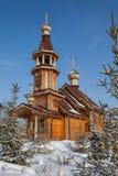 Houten kerk Rusland Stock Foto's