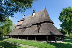 Houten Kerk in Sekowa, Polen Royalty-vrije Stock Afbeelding
