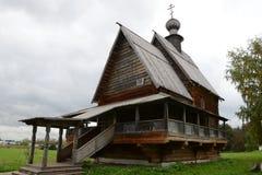 Houten kerk in Suzdal Stock Afbeelding