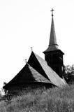 Houten kerk in Transsylvanië royalty-vrije stock foto's