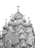 Houten Kerk van de Interventie dichtbij St. Petersburg Stock Fotografie