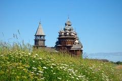 Houten kerken op eiland Kizhi Stock Afbeelding
