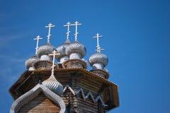 Houten kerken op eiland Kizhi Royalty-vrije Stock Fotografie