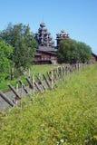 Houten kerken op eiland Kizhi Royalty-vrije Stock Foto's