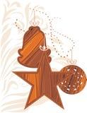 Houten Kerstmisspeelgoed Royalty-vrije Stock Afbeeldingen