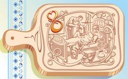 Houten keuken 8 marth Royalty-vrije Stock Foto's