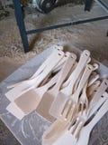 Houten kitcen hulpmiddelen Stock Afbeelding