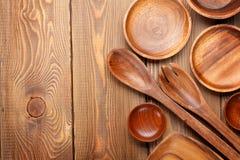 Houten keukengerei Stock Foto's