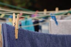 Houten kledingspin Royalty-vrije Stock Afbeelding