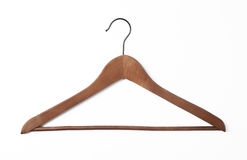 Houten kleerhanger Stock Afbeelding
