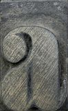 Houten kleine letter A royalty-vrije stock afbeeldingen