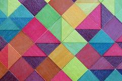 Houten kleurenkubussen Stock Foto
