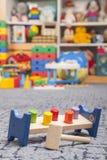 Houten kleurenstuk speelgoed Stock Afbeeldingen