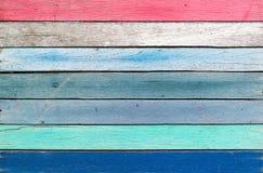 Houten kleurrijke mooi voor achtergrond Stock Afbeelding