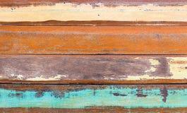 Houten kleurrijke muur Stock Foto