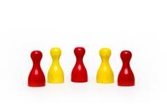Houten kleurrijke spelstukken Royalty-vrije Stock Afbeelding