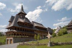 Houten klooster Stock Foto's