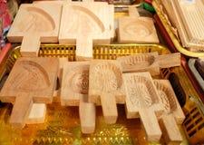 Houten koekjesvorm Royalty-vrije Stock Afbeelding