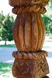 Houten kolom Royalty-vrije Stock Afbeelding