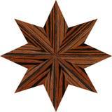 Houten kompaspatroon Royalty-vrije Stock Afbeeldingen