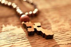 Houten kruis Royalty-vrije Stock Afbeelding