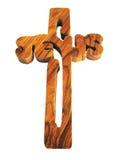 Houten kruis. Royalty-vrije Stock Afbeeldingen