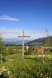 Houten kruis stock afbeeldingen