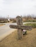 Houten kruis Royalty-vrije Stock Foto
