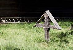 Houten kruisbeeld Stock Afbeelding